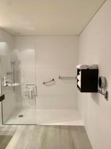Salle de bains dans l'établissement Golf Hôtel Grenoble Charmeil