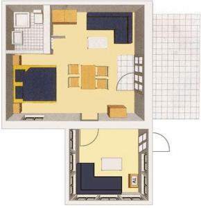 Grundriss der Unterkunft Ferienwohnungen Reetwinkel in Wieck
