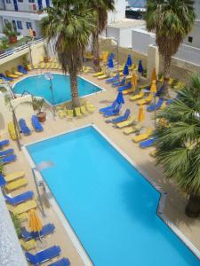 A view of the pool at Kassavetis Center - Hotel Studios & Apartments or nearby