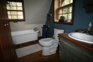 Salle de bains dans l'établissement Gite Nature et Confiture