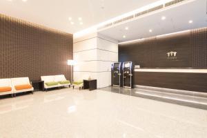 The lobby or reception area at Sanco Inn Nagoya Nishiki