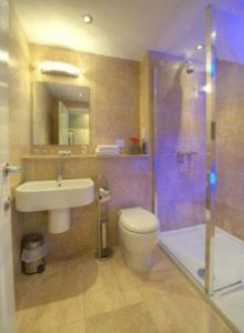 A bathroom at Aaron Lodge