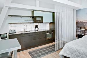 A kitchen or kitchenette at Avenue A1