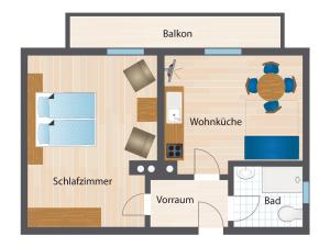 Půdorys ubytování Haus Pitzer/Apartments Troicher