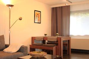 Ein Sitzbereich in der Unterkunft MS Wiese Apartment