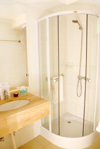Um banheiro em Apart Hotel Providencia