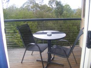 A balcony or terrace at Tambaridge Bed & Breakfast