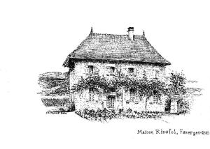 Maison Rioufol during the winter