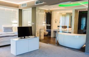 Telewizja i/lub zestaw kina domowego w obiekcie Hotel Astone Conference & Spa