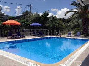 Πισίνα στο ή κοντά στο Polyxenis Rooms