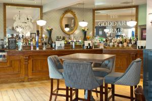 The lounge or bar area at The Goddard Arms