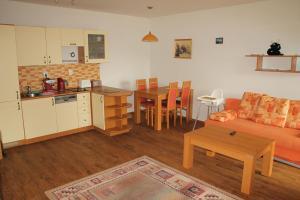 A kitchen or kitchenette at Apartments Klinovec