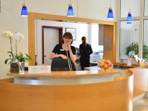 Lobby/Rezeption in der Unterkunft Tagungshaus Schönenberg
