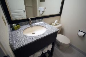 A bathroom at Powell River Town Centre Hotel