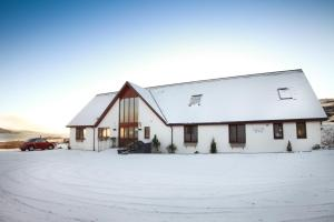 Arle Lodge during the winter