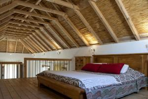 A bed or beds in a room at Casa Beleza do Sul