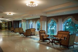 The lobby or reception area at Jolly Alon Hotel