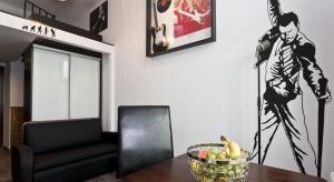 Telewizja i/lub zestaw kina domowego w obiekcie Rock Star Apartment