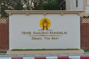 The logo or sign for the resort