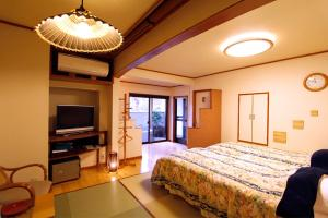 A television and/or entertainment center at Masutomi Ryokan