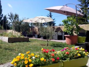 A garden outside Loft du moulin de Milan