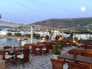 A restaurant or other place to eat at Pandrossos Hotel