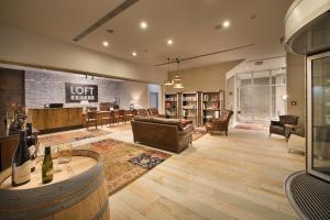 The lobby or reception area at LOFT Hotel Bratislava