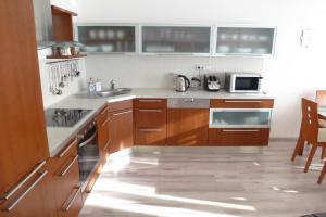 A kitchen or kitchenette at Apartmány Luhačovice, Royal