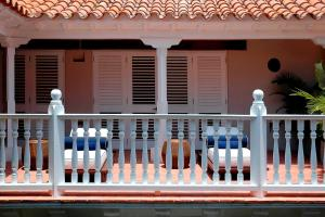 A balcony or terrace at Hotel Casa Don Sancho By Mustique