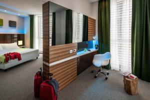 Ein Badezimmer in der Unterkunft Hotel degli Arcimboldi