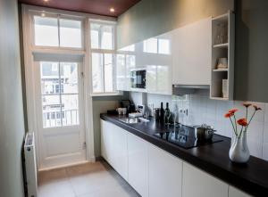 Een keuken of kitchenette bij Apartments Prinsengracht