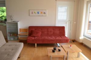 A seating area at Apartment Luma an der Schiwiese