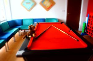 A pool table at YHA Conwy