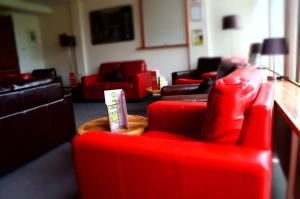The lounge or bar area at YHA Conwy