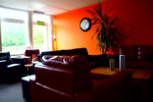 A seating area at YHA Conwy