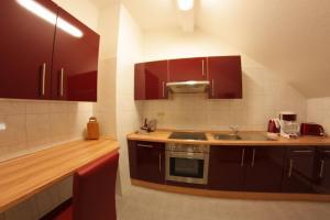 Küche/Küchenzeile in der Unterkunft Pension Am Ostbahnhof
