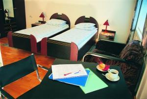 Кровать или кровати в номере Elektra
