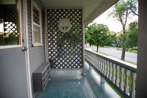 A balcony or terrace at The Shelby Inn