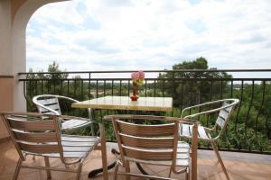 A balcony or terrace at Apartments Neda I - Poreč South