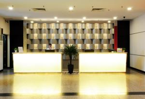 The lobby or reception area at Hotel Sentral Seaview @ Beachfront