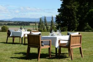 A restaurant or other place to eat at Quamby Estate