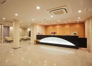 The lobby or reception area at Smile Hotel Nara