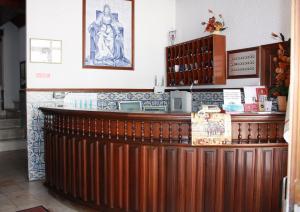 A área de receção ou átrio de Hotel Dona Leonor