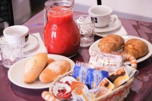 Opções de café da manhã disponíveis para hóspedes em B&B Best Holidays Venice