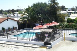 A view of the pool at Regency Inn or nearby