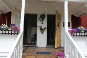 En balkong eller terrass på Dohnafors Sommarhem