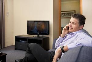 A television and/or entertainment center at Oxley Court Serviced Apartments