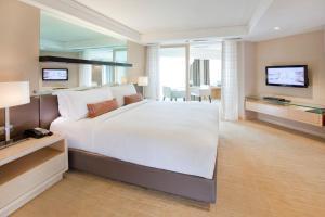 ドーセット グランド スバン ホテルにあるベッド