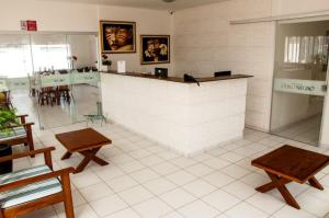 The lobby or reception area at Hotel Ouro Negro