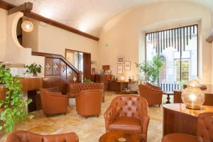 The lobby or reception area at Hotel Palazzo Benci